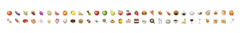 Food and Drink Emoji