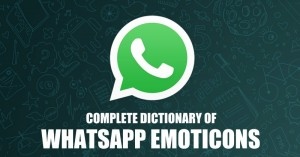 Complete dictionary of WhatsApp emoticons