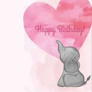 Happy Birthday (little elephant)