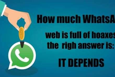 Does WhatsApp cost money