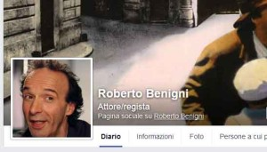 Benigni profile on facebook