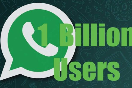 WhatsApp hits one billion users