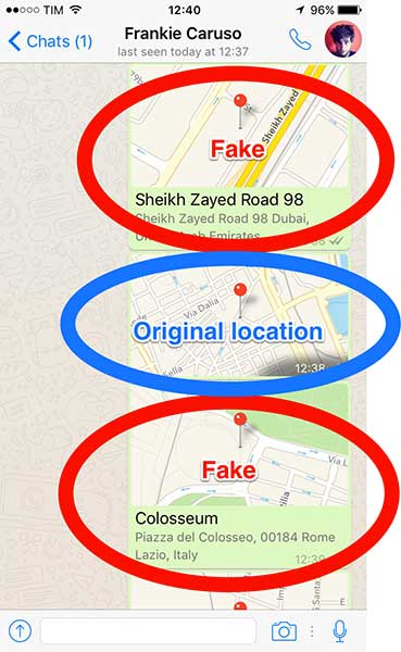 How to send a fake location on WhatsApp