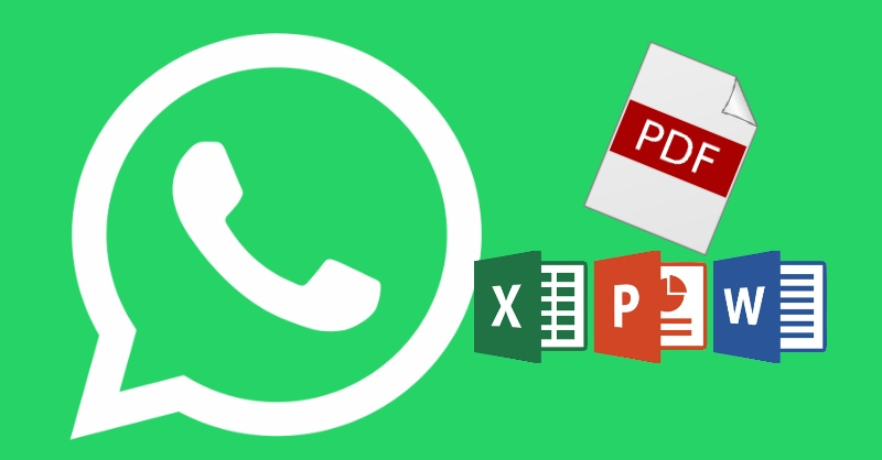 end any file via WhatsApp such as PDF, Zip, Word, PowerPoint and Excel files