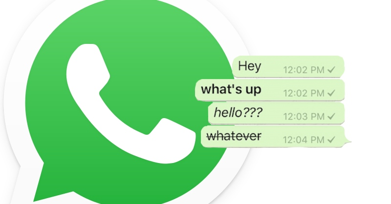 WhatsApp text formatting: how to add bold, italics and strikethroughs