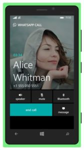 WhatsApp Voice Calls Windows Phone