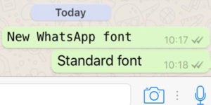 new whatsapp font FixedSys