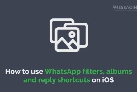 use WhatsApp filters, albums and reply shortcuts