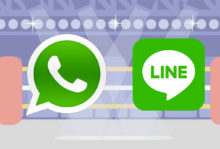 comparison of whatsapp and line