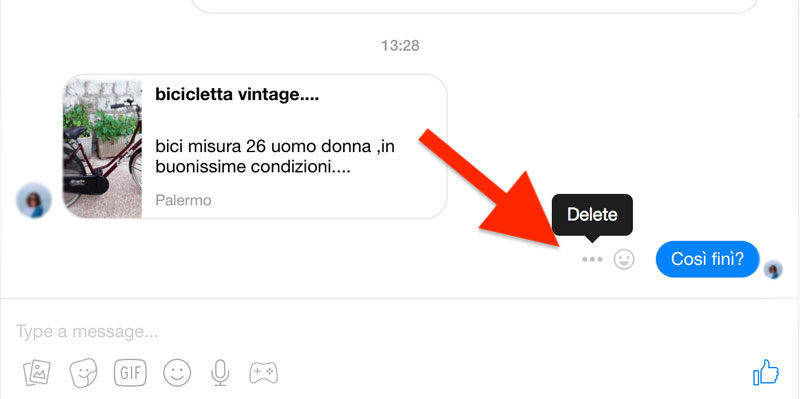 Deleting Specific Conversations on Messenger.com