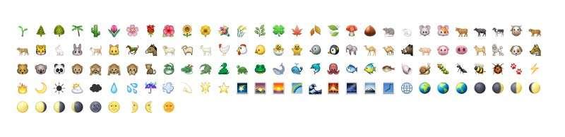 Nature Emoji