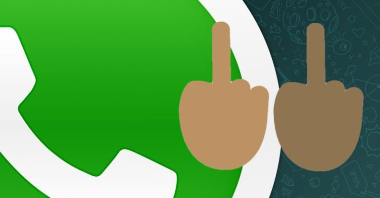 middle finger WhatsApp emoji