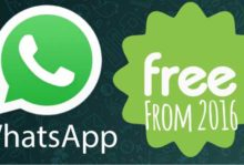 WhatsApp is free