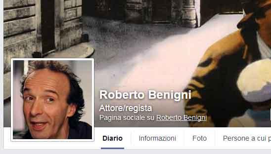 benigni facebook profile