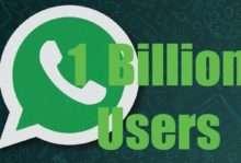 WhatsApp hits one billion users