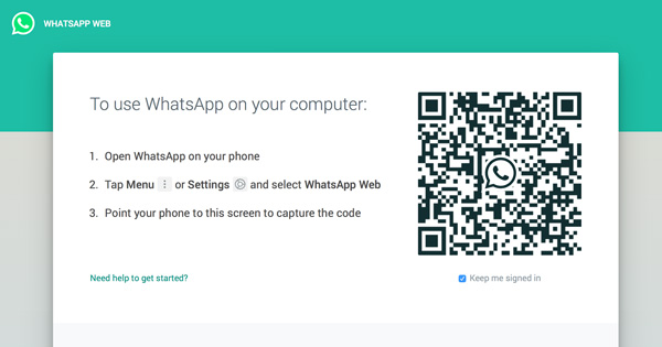Spy on WhatsApp messages from PC with WhatsApp Web