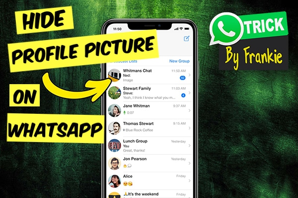 how to set whatsapp dp from gallery