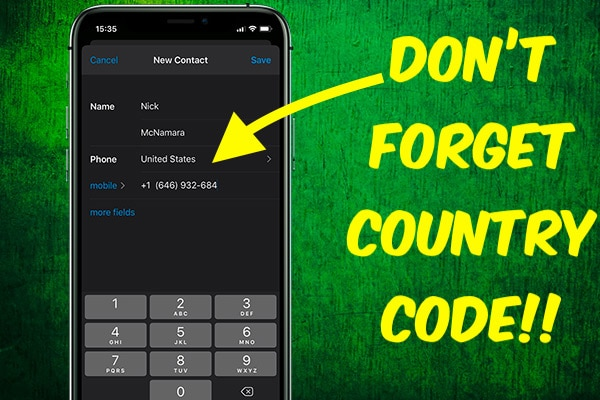 Adding International Numbers on WhatsApp
