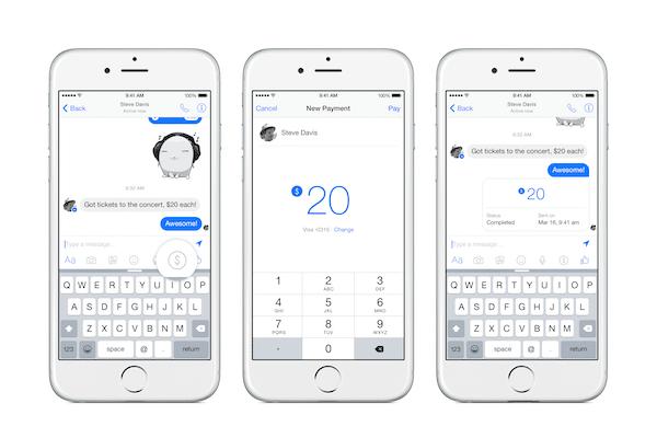 Send money with Facebook Messenger