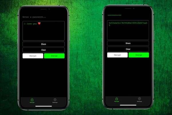 send secret messages wiht EncryptChat