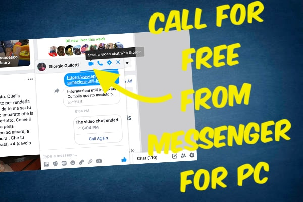 Call for Free from Facebook Messenger for PC