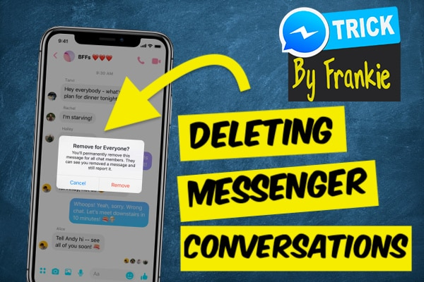Deleting Facebook Messenger conversations