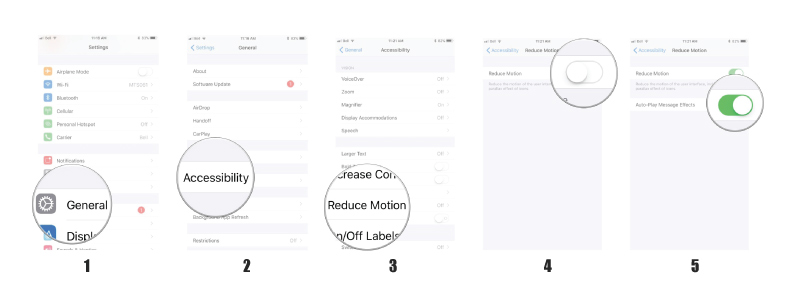 Reduce Motion Feature On