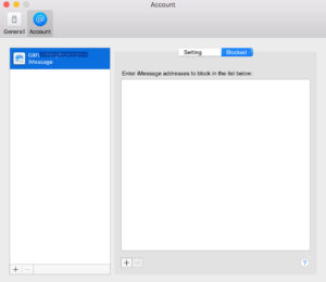 Blocking Someone from iMessage Using OS X Messages App