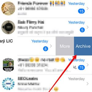 Archiving WhatsApp chat On an iPhone