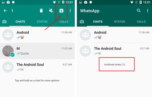 How To Archive a WhatsApp chat With Android