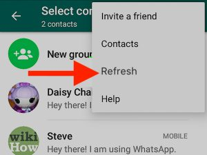 Adding a New Contact on Your Whatsapp for Android App