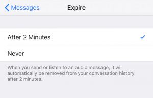 How to change expiration date settings for audio and video messages