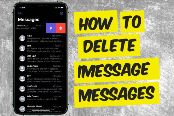 How to delete iPhone messages