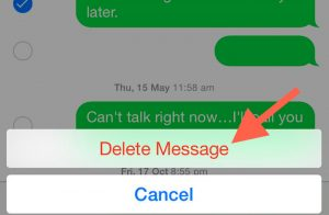 How to delete single messages on iPhone