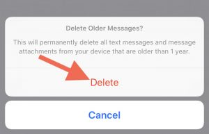 How to set messages to delete after a period of time