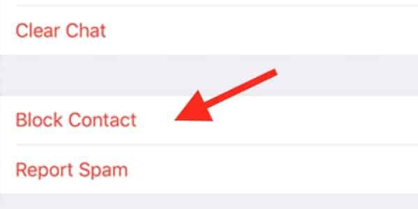 block or report spam whatsapp iPhone