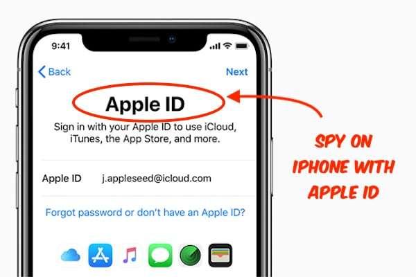 Spy on iPhone with Apple id