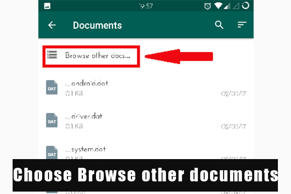choose browse other documents
