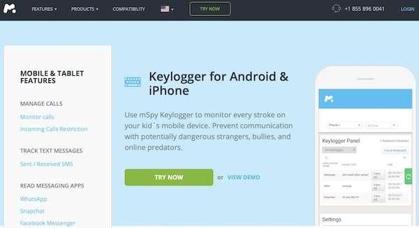 mSpy Keylogger Software