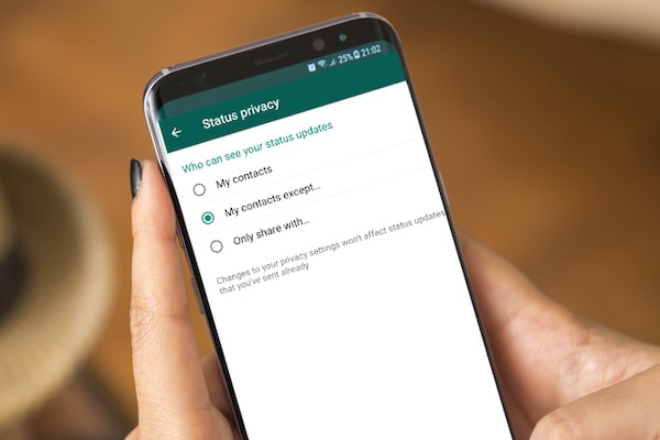 Hiding Your Status on WhatsApp