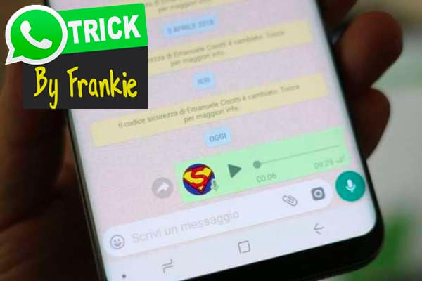 Adding fake background sounds to WhatsApp voice messages