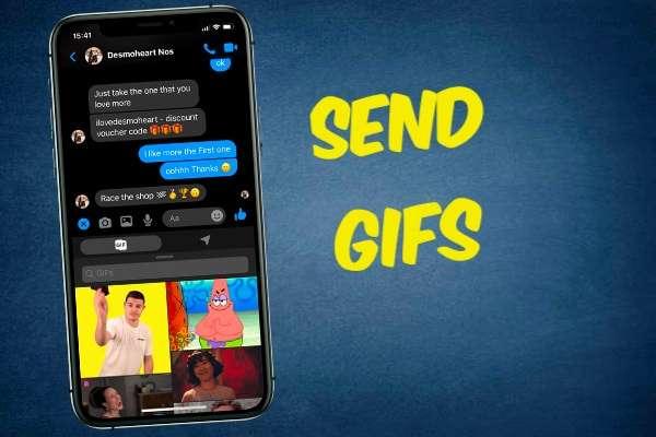 Send GIFs through Facebook Messenger