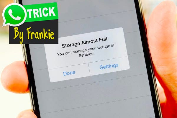 Clearing WhatsApp Data Storage
