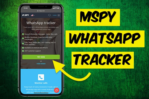 Spy whatsapp with mspy