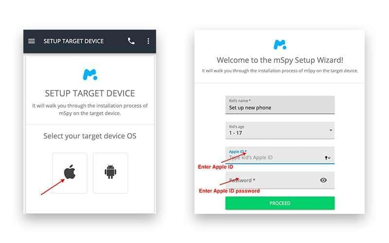 Install mSpy on iPhone without jailbreak - setup