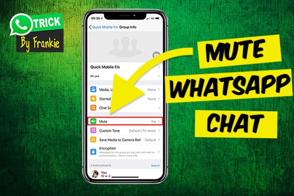 Mute WhatsApp Chat
