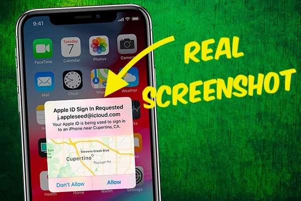 Apple id Screenshot