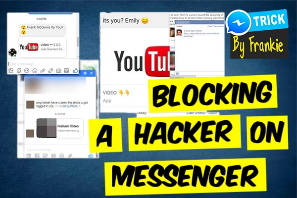 blocking a hacker on facebook messenger