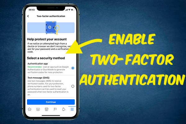 enable two-factor authentication on Facebook
