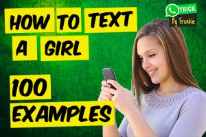 How to text a girl and keep it interesting